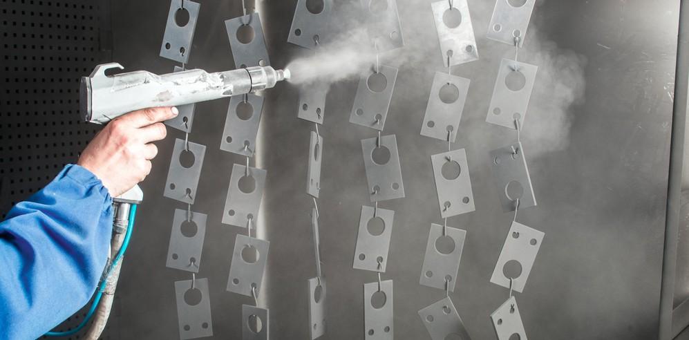 Defectos en la aplicación de pintura en polvo